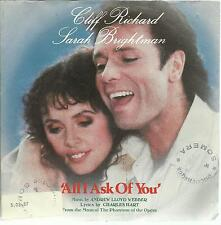 45 TOURS / CLIFF RICHARD    SARAH BRIGHTMAN     ALL ASK OF YOU   /A