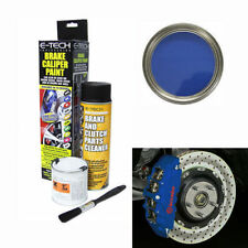 E-Tech BLUE Freno Pinza Freno Pittura KIT-ENGINE Bay FRENI TAMBURO COLLETTORE AUTO IN METALLO