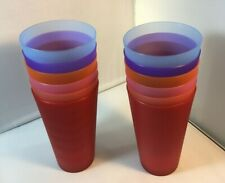 32-ounce Plastic Tumblers Large Drinking Glasses Party Cups Set of 12 Colors Mix