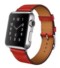 Apple Watch Single Tour Strap iWatch 38mm Capucine Red Hermès Style Series 1 / 2