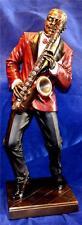 LARGE 29cm TALL JAZZ BAND SAXOPHONE PLAYER SCULPTURE Sax Music Saxophonist
