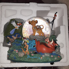 Rare Disney Lion King 'I Can't Wait To Be King' Simba Musical SnowGlobe