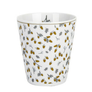 "Krasilnikoff - Happy Mug, ""Golden Acorns"", HM472, Becher 330ml, Eicheln Gold"