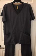 wonderwink Stretch scrubs Set Gray medium Top Large Pants