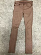 Helmut Lang Pink Rose Mauve Skinny Jeans Sz 27 X 32 (3A#1835)