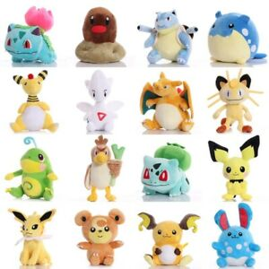 Pikachued Bulbasaur Charmander Squirtle Snorlax Mewtwo Plush Toy Totodile ice Vu