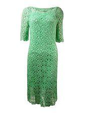 [80 73]Lauren Ralph Lauren Womens Crochet Elbow Sleeves Casual Dress Green L
