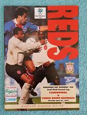 1997 - CUP WINNERS CUP SEMI FINAL PROGRAMME - LIVERPOOL v PARIS ST GERMAIN