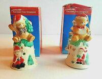Teddy Bear Porcelain Bell Tree Ornaments Set Of 2 Artmark Treasury Of Gifts