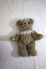 Applause Pose-able Bear Light Brown Plush with Lace Collar
