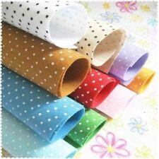 Polyester Polka Dot Printed Fabric Polyester Handmade Nonwoven Material 20pcs