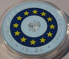 2004 Poland Polen 10 zl zlotych Coloured Poland's Accession to the EU