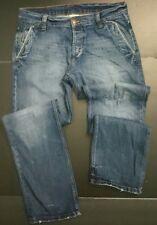 "ZARA JEANS Button Fly flap pockets TAG SZ 32 (35""waist 33""inseam measured"