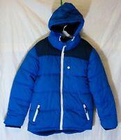 Boys Matalan Blue Puffa Padded Hooded Warm Fleece Lined Coat Age 10-11 Years