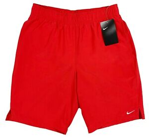 Men's NIKE Red Athletic Shorts Swim Trunks XXL NWT NEW White Lining NiCe!