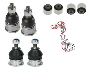 Rear Ball Joints Upper Control Trailing Arm Bushings Bushes for Honda Prelude