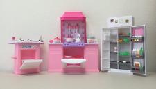 Barbie Size Dollhouse Furniture - Kitchen Set, New, Free Shipping.