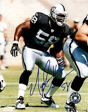 Napolean Harris Oakland Raiders Hand Signed 8x10 Autographed Photo COA NH 58