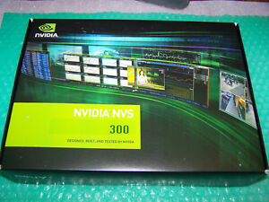 New Nvidia NVS 300 512MB PCIe x1 Dual Monitor card, complete