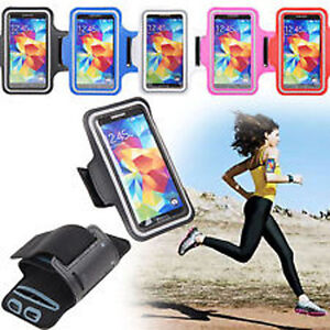 SPORT SOFT BELT ARMBAND LEATHER CASE FOR SAMSUNG GALAXY S5 / IPHONE 5