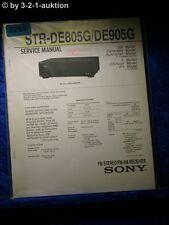 Sony Service Manual STR DE805G /DE905G FM/AM Receiver (#5269)