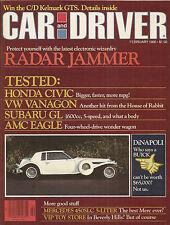 Car & Driver Feb 1980 VW Vanagon - DiNapoli - Honda Civic - Subaru GL - Kelmark
