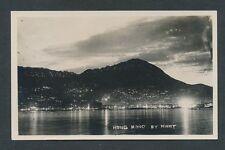c. 1920 NIGHT VIEW, HONG KONG Real Photo Postcard