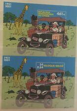 """Varia, 2 Blocs de timbre """" Tintin """" neufs MNH, bien"""