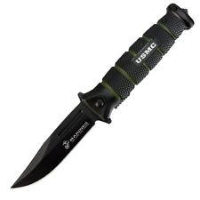 "United Cutlery USMC Black And Green Combat 3.5"" Folder Black Coated Steel UC3098"