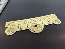 Seth Thomas Clock beat scale plate No. 2 Regulator Style Brass