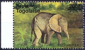 Elephants, Wild Animals, Togo 1995 MNH
