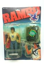 Vintage ☆ FIRE-POWER RAMBO Action Figure ☆ Carded Mattel 80s Coleco Original