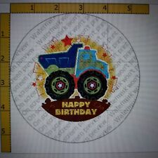 12 Pre Cut Edible Icing Cupcake toppers 2.5 inch diameter Birthday Track