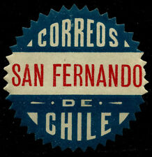CHILE, OFFICIAL SEAL, SAN FERNANDO, SAWTOOTH, MINT HINGED