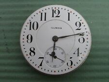 ILLINOIS 21 JEWELS 16 SIZE OPEN FACE POCKET WATCH MOVEMENT RUNNING!!