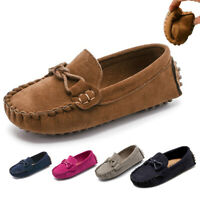 Kid Boys Girls Toddler Slip On Soft Loafers Casual Holiday Flats Boat Shoes Size