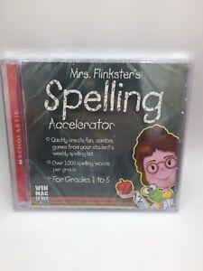 TOPICS MRS. FINKSTER'S SPELLING ALLELERATOR FOR GRADES 1-5 (WIN MAC CD ROM) NEW