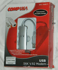 CompUSA Brand USB 56K V.92 Modem with CD and Instructions