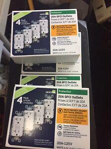 Leviton 20 amps 125 volt White GFCI Outlet GFTR2-4W 16 Of Them
