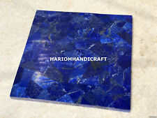 12'' Square Lapis Lazuli Marble Coffee Table Top Blue Afghanistan Decorative