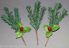 3 x uralter Papierstrauch für Nikolaus Weihnachtsmann