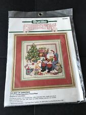 Bucilla The Best of Christmas Santa 12 x 12 Counted Cross Stitch Pillow 82989