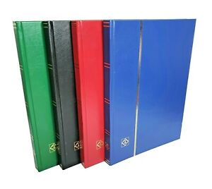 A4 Lighthouse Stock book Stamp Album with 32 Black Pages  -