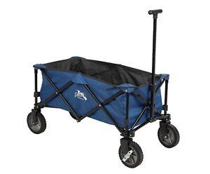 DMH Heavy Duty Folding Wagon Trolley Beach Cart 4 Wheel Pull Garden