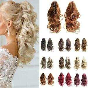 Thick Wave Claw Ponytail Clip In Hair Extensions - Straightening Length 40cm