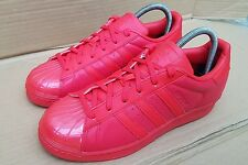 GORGEOUS ADIDAS SUPERSTAR RED GLOSS SHELL TOE SIZE 5.5 UK WORN TWICE IMMACULATE