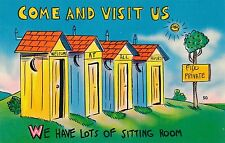 POSTCARD  COMIC  USA  Come and visit us   .....
