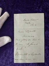 British Prime minister Sir Robert Peel 3 sided, signed letter