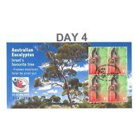 Australia 2018 Israel Stamp Show Eucalyptus Mini Sheet Day 4 Postmark Limited