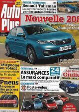 AUTO PLUS N°1440 8 AVRIL 2016 PEUGEOT 208/ ASSURANCES/ CITROEN/ PRIX PNEUS/ ALFA